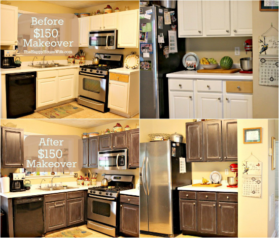 Kitchen Makeovers Before And After: Frugal Kitchen Cabinet Makeover