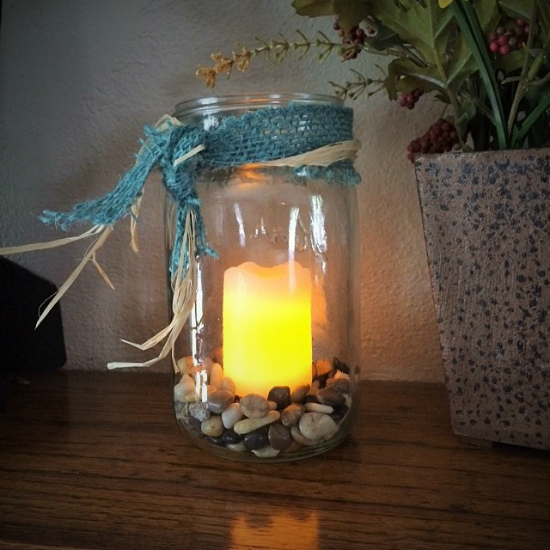 How to Make Mason Jar Lanterns at The Happy Housewife