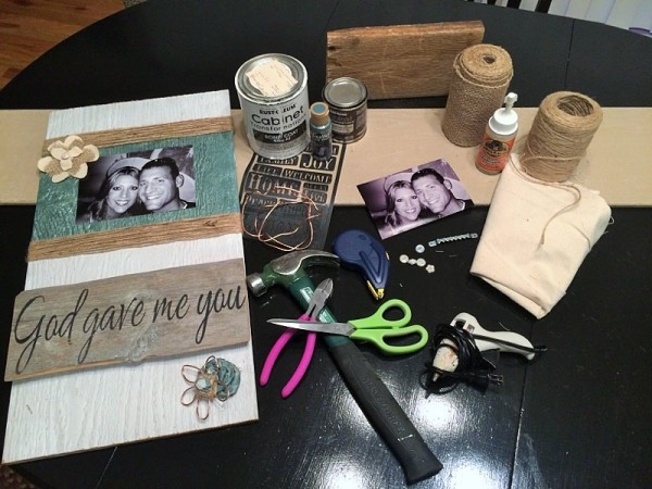 DIY Picture Decor Supplies at The Happy Housewife