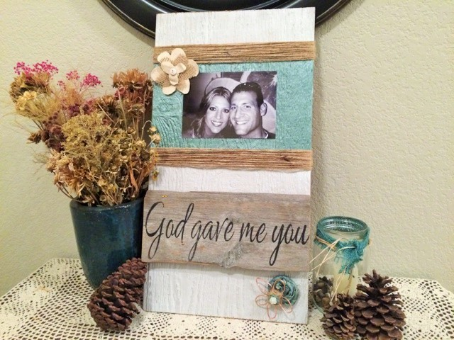 DIY Picture Decor at The Happy Housewife