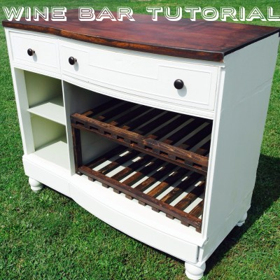dresser to wine bar tutorial
