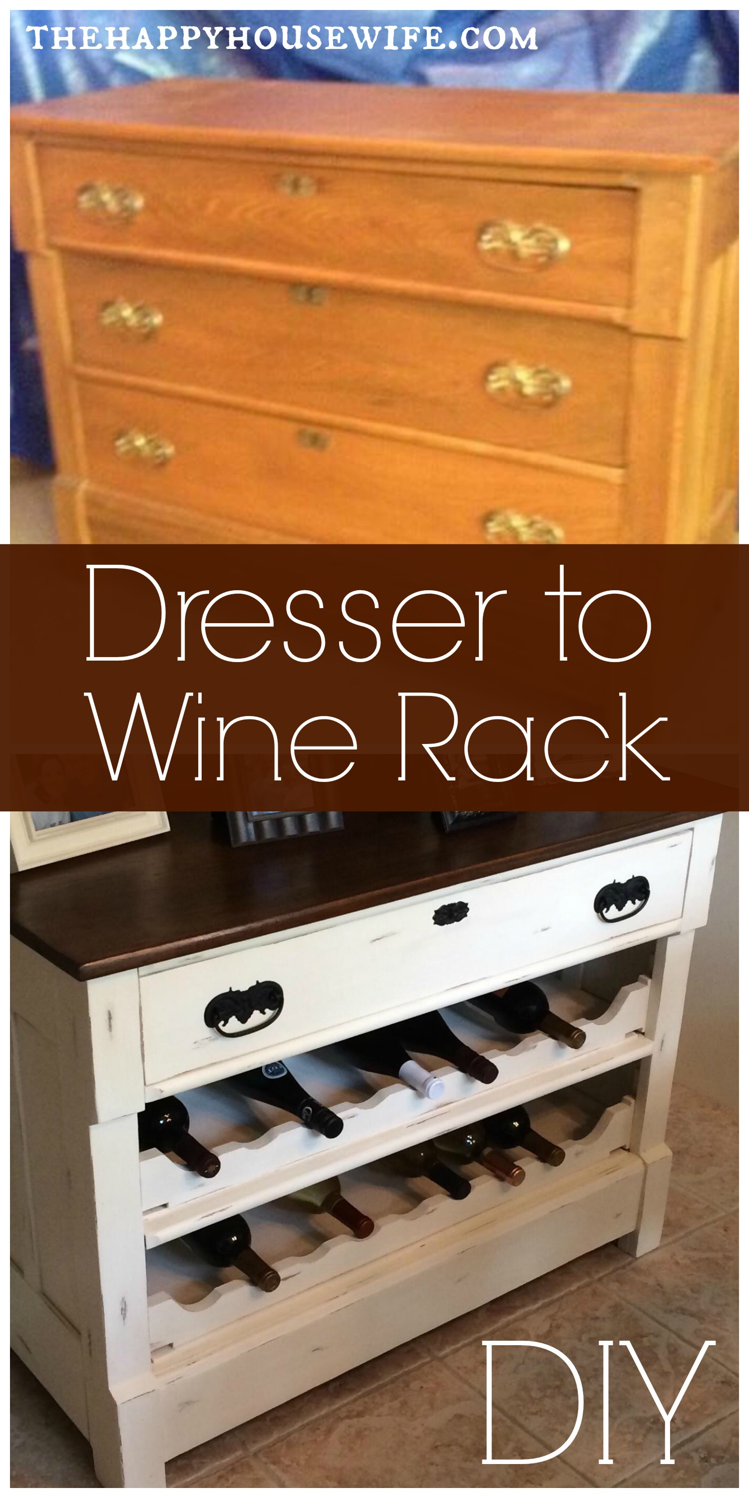 Dresser to Wine Rack DIY - The Happy Housewife™ :: Home ...