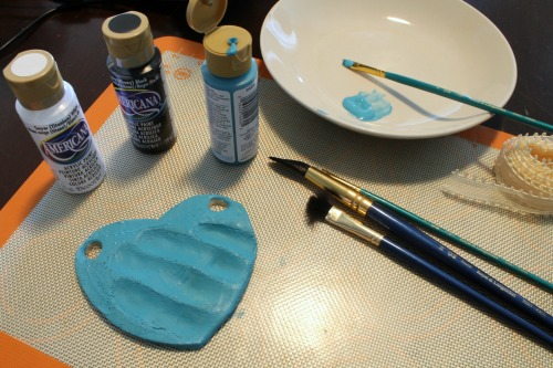 Mother's Day Salt Dough Ornaments (painting) at The Happy Housewife
