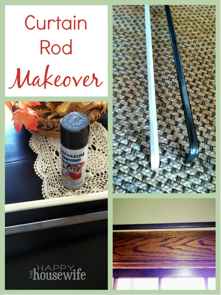 DIY Curtain Rod Makeover at The Happy Housewife