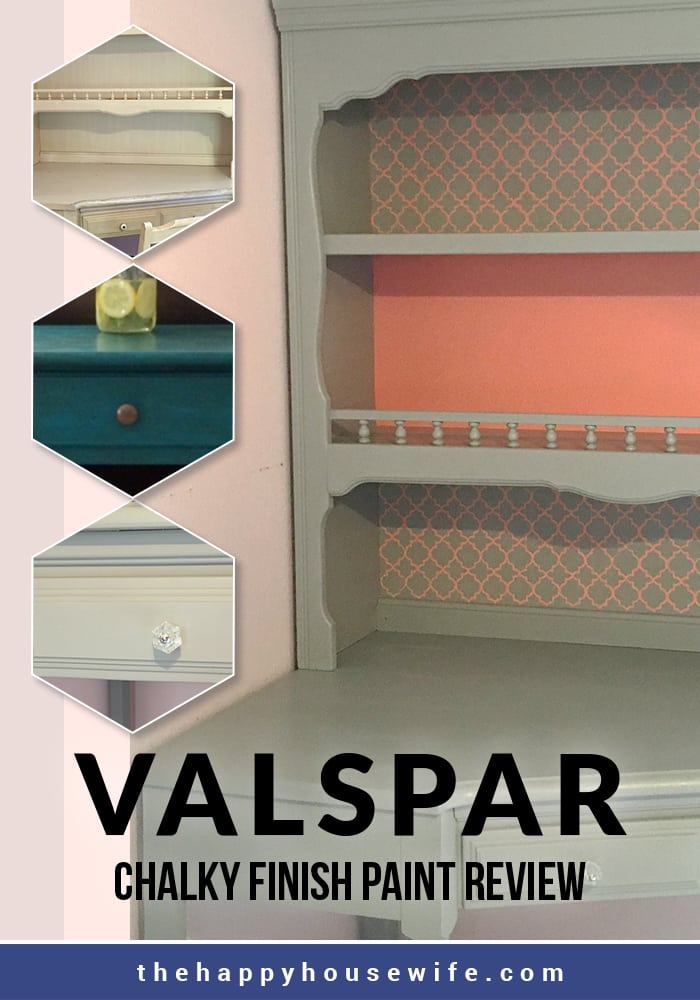 Side Table Makeover With Valspar Chalk Paint The Happy