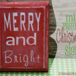 Mini Christmas Signs