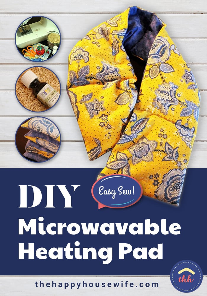 DIY Microwavable Heating Pad makes a great gift and cures simple aches and pains. Easy sew tutorial!