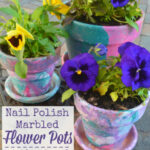 Marbled Flower Pots