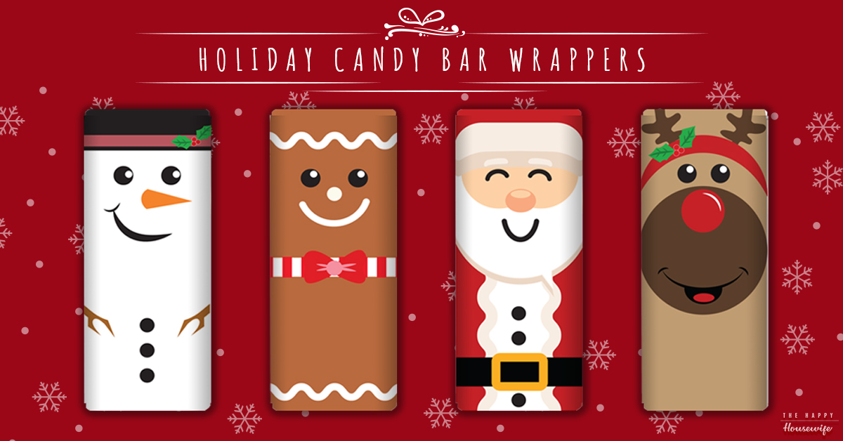 Candy Bar Wrapper Template The Happy Housewife Home Management
