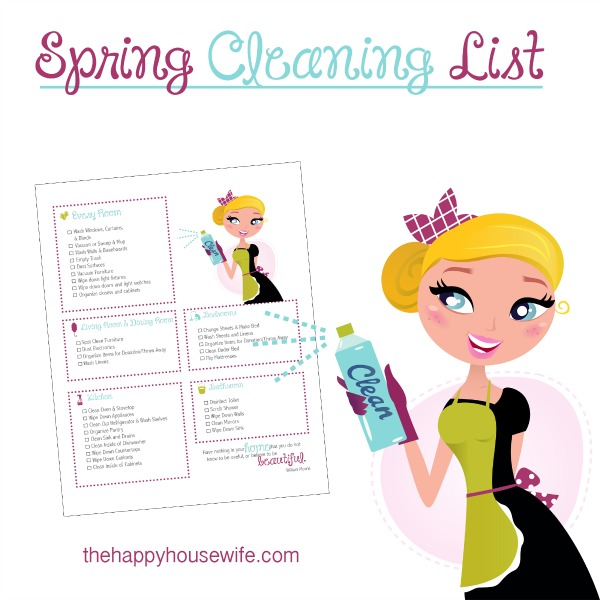 This Spring Cleaning List will help you cover the cleaning tasks that need to be done in each room of your house.