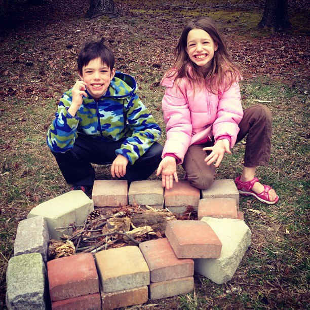 create a fire pit for your backyard fun zone