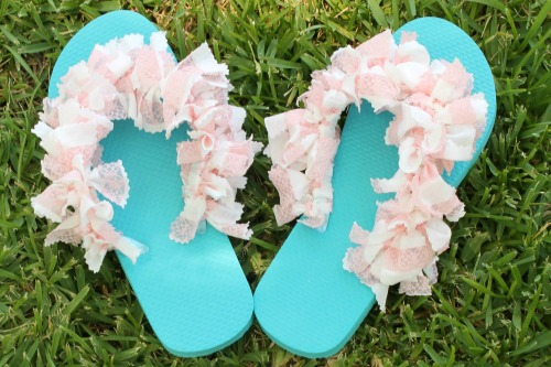Easy Embellished Flip Flops for Under $5