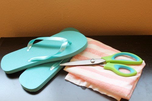 Easy Embellished Flip Flops for Under $5 - Supplies