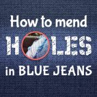 how to mend holes in jeans