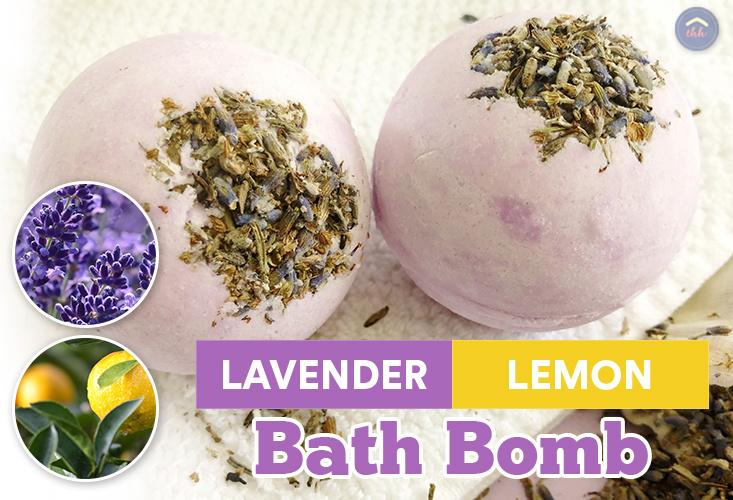 Lavender Lemon DIY Bath Bomb