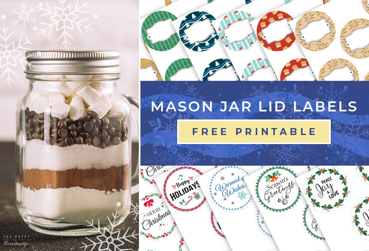 Mason jar lid printables holiday