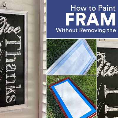 how to update picture frames with paint