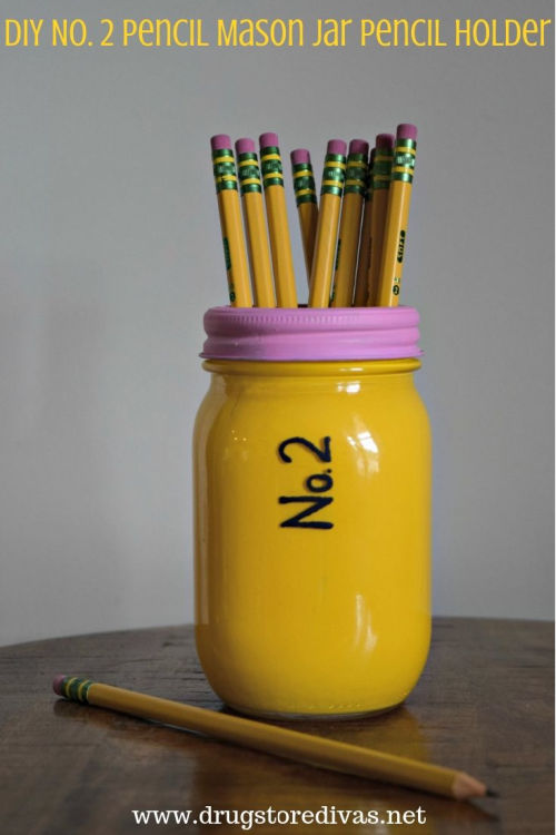 jar pencil holder craft
