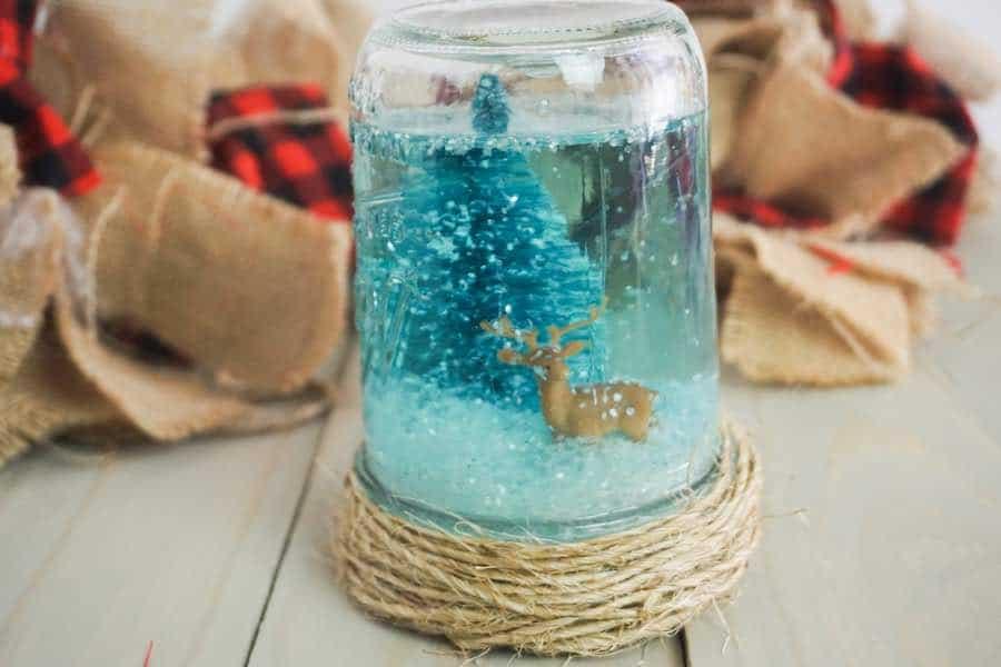 DIY craft snowglobe