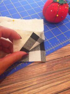 buffalo plaid check fabric coasters- low sew