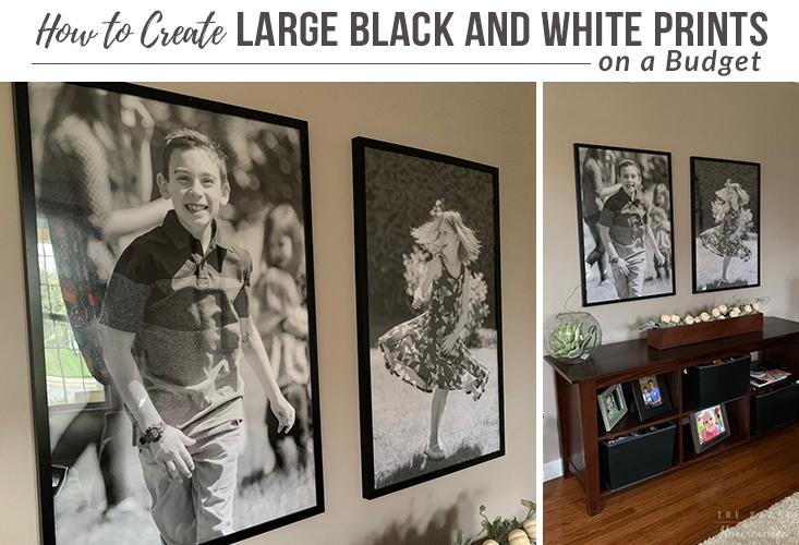 How to create large black and white prints on a budget.