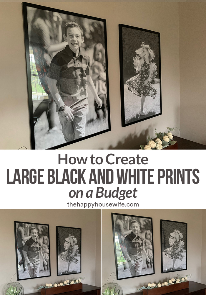 how to create large scale black and white prints on a budget