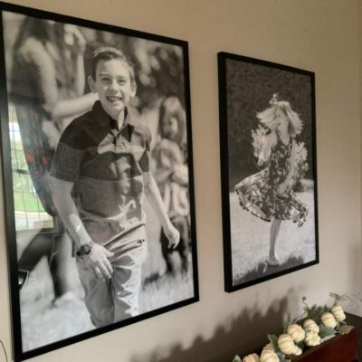 large black and white prints