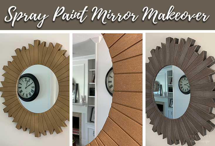 spray paint mirror makeover