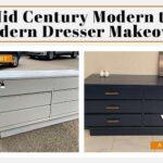mid century modern painted furniture