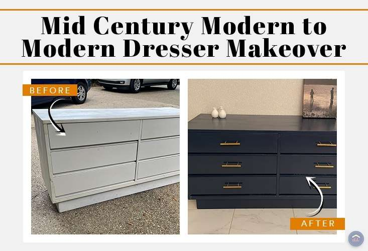 Mid Century Modern Painted Dresser The Happy Housewife Home Management