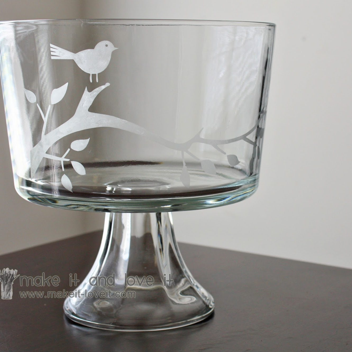 Etched Trifle Bowl