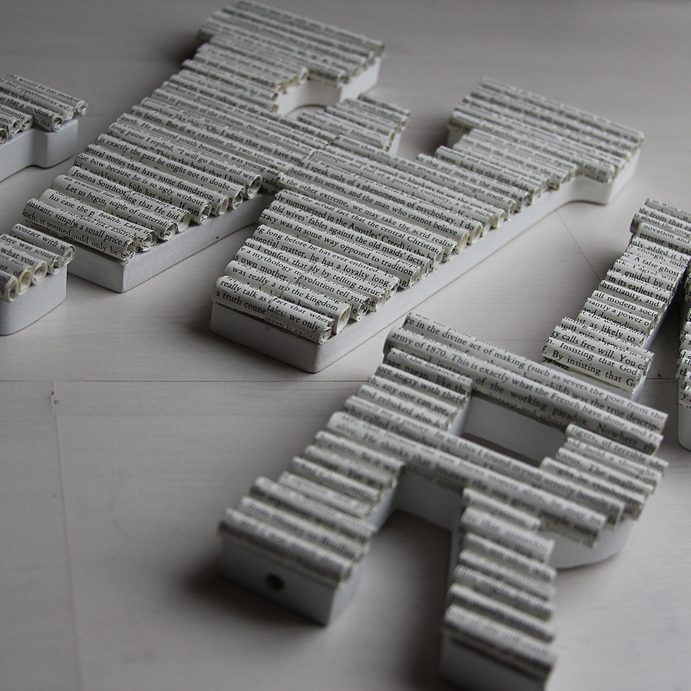 Homemade Book Letters