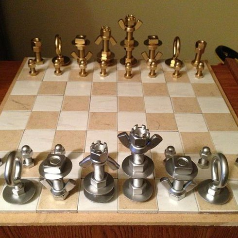 Nuts and Bolts Chess Set