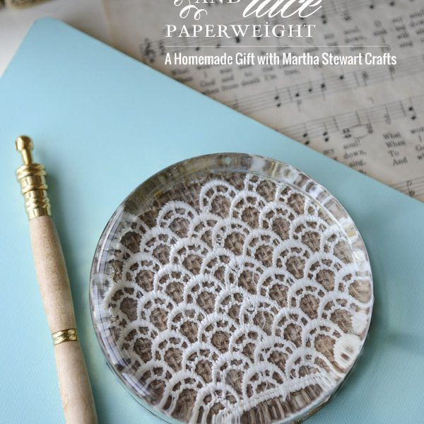 Burlap & Lace Paperweight
