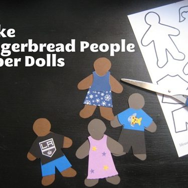 Gingerbread People Paper Dolls