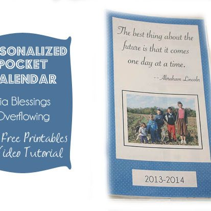 Personalized Pocket Calendars