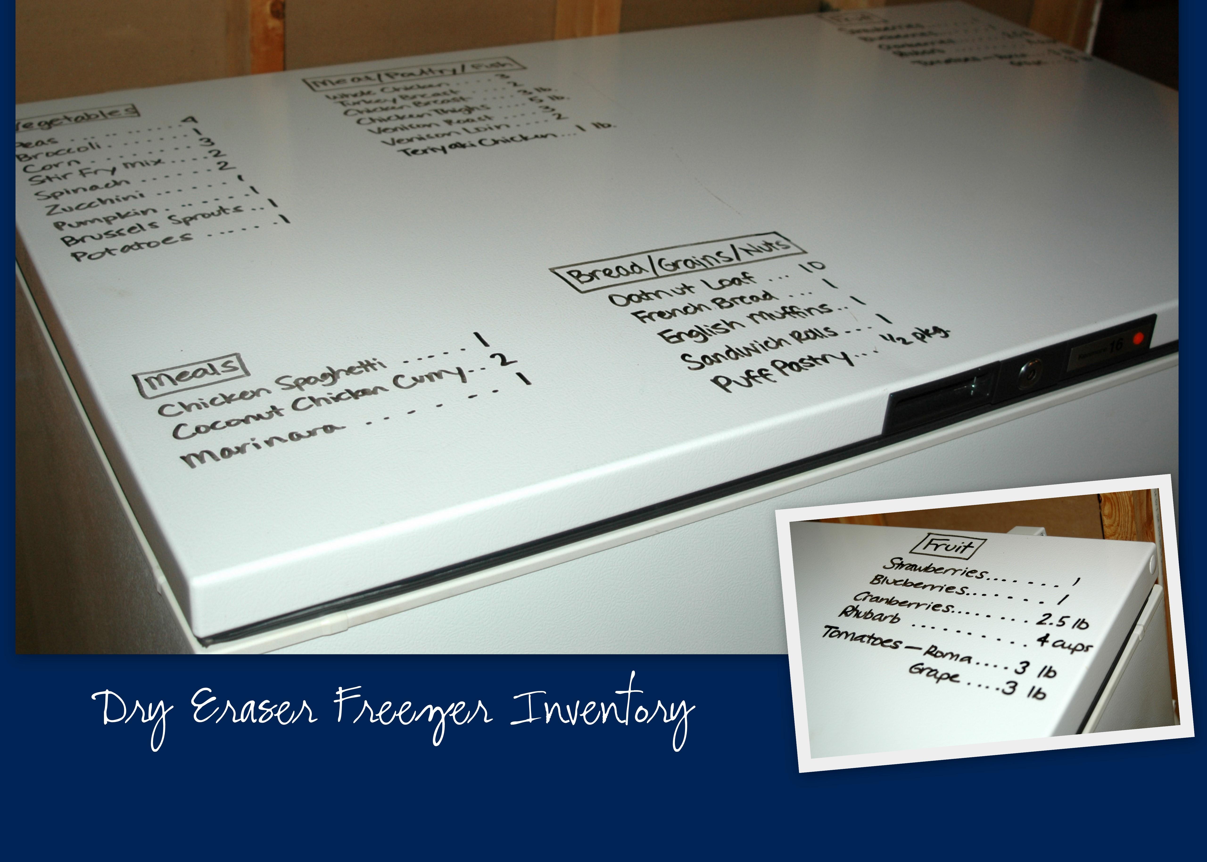 dry erase freezer inventory