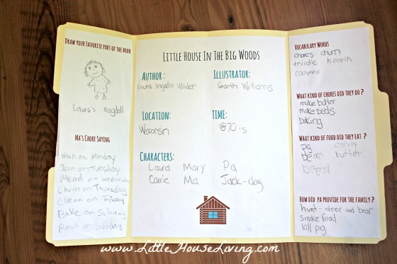 little house in the big woods lapbook