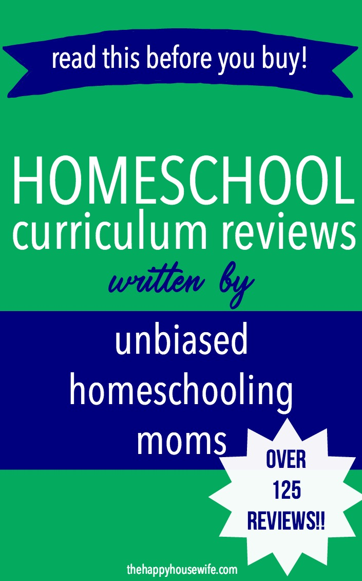 Homeschool curriculum reviews from preschool to high school