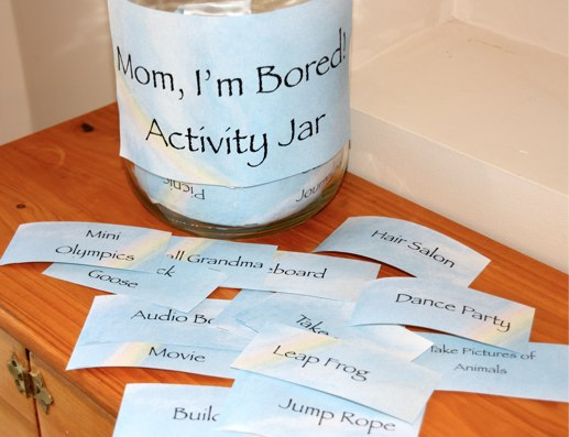 mom im bored activity cards