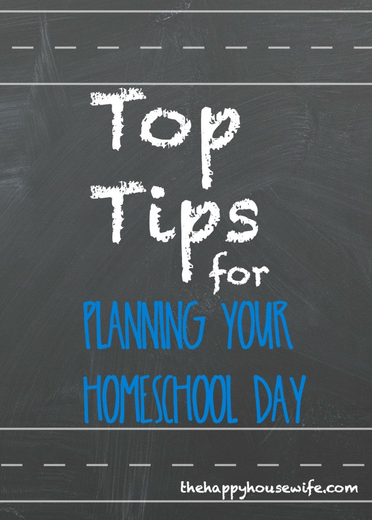 tips for planning your homeschool day