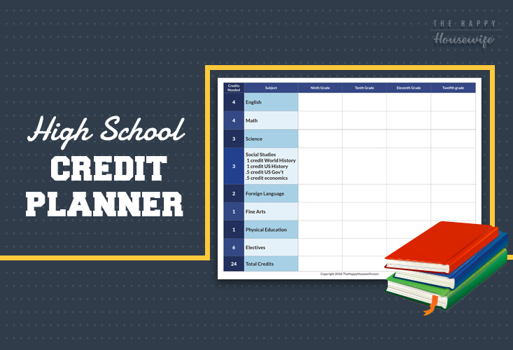 homeschool high school credit planner
