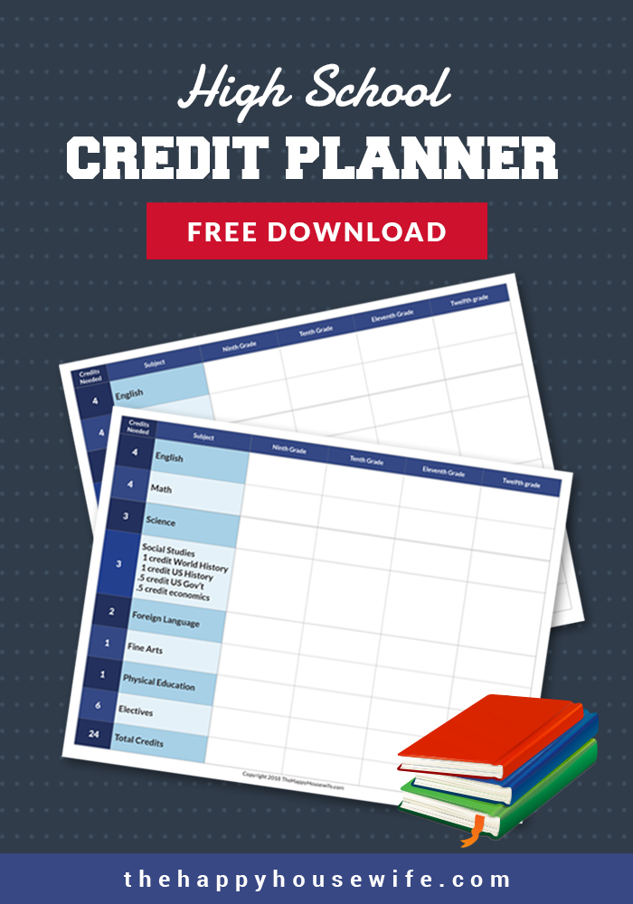 High School Credit Planner