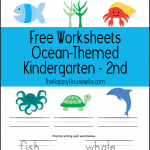 Ocean Themed Worksheets