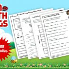 Bug unit study and printable worksheets