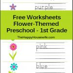 Flower Themed Printables