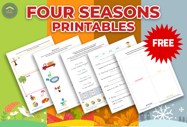 picture relating to Seasons Printable referred to as 4 Seasons Worksheets: Cost-free Printables - The Delighted