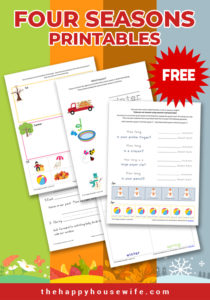 Four seasons printable worksheets- free download