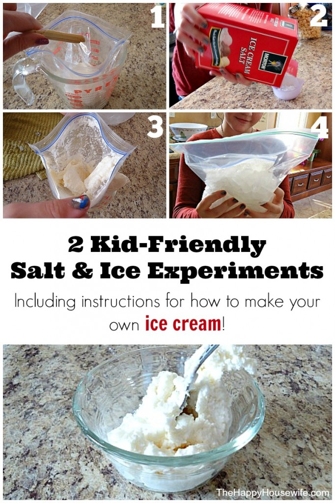 2 Kid Friendly Salt and Ice Science Experiments from The Happy Housewife