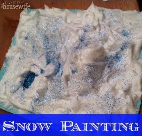 Snow Painting | The Happy Housewife